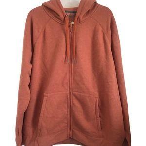 All In Motion Full Zip Hooded Sweatshirt in Rust